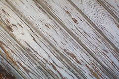 Old wooden wall with peeling paint. Texture. Stock Photography