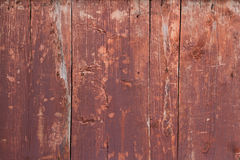Old wooden wall. Old wooden red  wall background Royalty Free Stock Photography