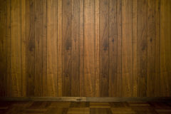 Old wooden wall in room. Stock Images