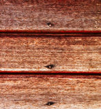 Old wooden wall with rusty nails Royalty Free Stock Photography