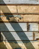 Old wooden wall. Sunlight on old wooden wall Royalty Free Stock Photography