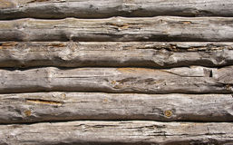Old wooden wall of the timberwood Royalty Free Stock Photos