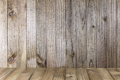 Old Wooden Wall with Vertical Slats Stock Photo