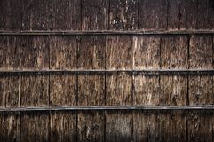 Old wooden wall structure with vertical and horizontal lines Stock Images