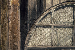 Old wooden wall with window Stock Images