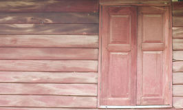 Old wooden wall and window Stock Photography