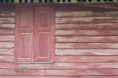 Old wooden wall and window. Background Royalty Free Stock Photo