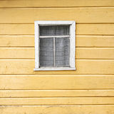 Old wooden wall with a window Royalty Free Stock Photos