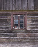 Old wooden wall with window Royalty Free Stock Images