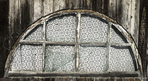 Old wooden wall with window vintage Royalty Free Stock Image