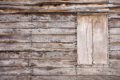 Old Wooden Wall With Window Royalty Free Stock Photos
