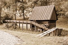 Old wooden water mill Stock Photo