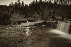 Old wooden water mill at National Nature Reserve Kvacianska doli Stock Photos