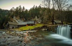 Old wooden water mill at National Nature Reserve Kvacianska dolina, Slovakia Stock Photos