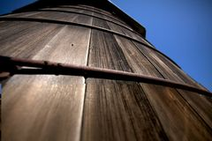 Old Wooden Water Tank Stock Photo