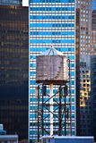 Old wooden water tower in New York stock photo