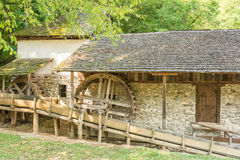Old Wooden Watermill Stock Photography