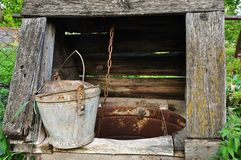 Old wooden well Stock Images