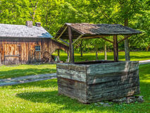 Old Wooden Well Stock Photo