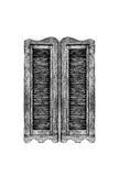 Old wooden western swinging Saloon door. Stock Photos