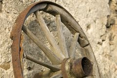 Old wooden wheel. Royalty Free Stock Photography