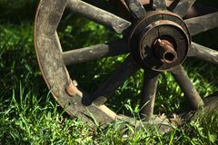 Old wooden wheel Stock Image