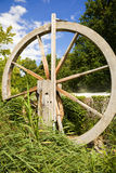 Old wooden wheel in nature Stock Image