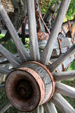 Old Wooden Wheel and spokes Royalty Free Stock Image