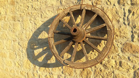 Old wooden wheel 1 Royalty Free Stock Image