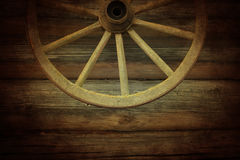Old wooden wheel Stock Images