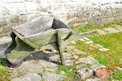Old wooden wheelbarrow Stock Photos