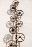 Old wooden wheels Stock Photography