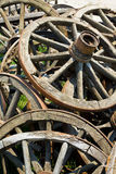 Old wooden wheels. A lot of old wooden wheels Stock Image