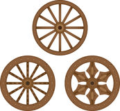 Old wooden wheels. Wooden wheels history antique old Royalty Free Stock Photography
