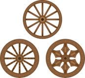 Old wooden wheels stock illustration