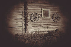 Old wooden wheels Royalty Free Stock Photo