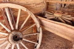 Old wooden wheels Stock Photos