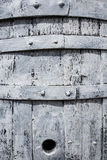 Old Wooden White Barrel Close-up Royalty Free Stock Photography