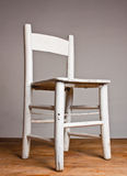 Old wooden white chair Royalty Free Stock Images