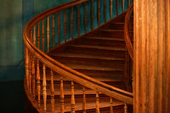 Old wooden winding stairs Royalty Free Stock Image