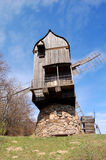 Old wooden windmill. S at ethnographic museum, Ukraine Stock Images