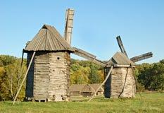 Old wooden windmill. б Pirogovo, Kiev, Ukraine Royalty Free Stock Images