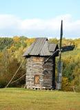 Old wooden windmill. Pirogovo, Kiev, Ukraine Stock Images