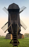 Old Wooden Windmill. In  early morning light in the south of Sweden Stock Images
