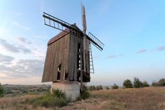 Old wooden windmill Stock Photography