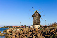 Free Old Wooden Windmill Stock Photos - 27033333