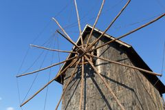 Old wooden windmill Stock Image