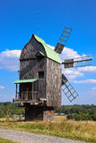 Old wooden windmill Stock Images