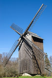 Old wooden windmill, close-up Stock Photos