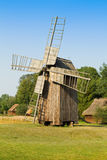 Old wooden windmill in the countryside Royalty Free Stock Photography